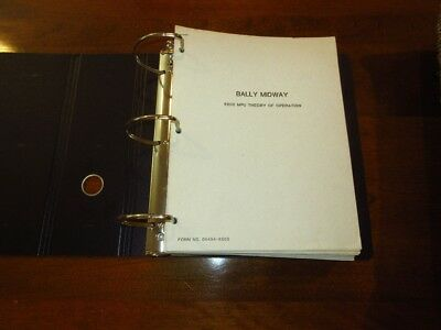 Large binder with Bally BLY-SENTE BLY/MIDWAY Service Bulletins Pinball Arcade