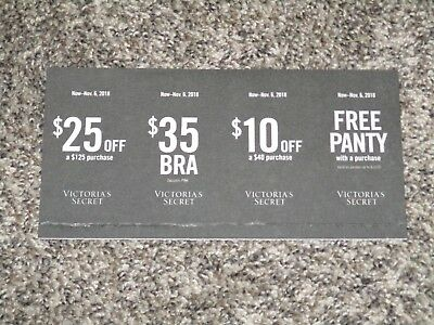 7bf6b015c342 Four Victoria's Secret Coupons $25 Or $10 Off In Store Online Panty Exp ...