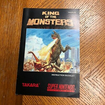 King of the Monsters Super Nintendo SNES Instruction Manual Booklet ONLY