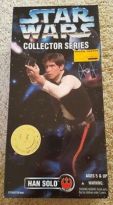 """NIB VTG Star Wars Collector Series Han Solo 12"""" Poseable Action Figure - Kenner"""