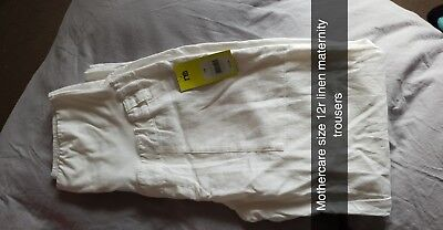Maternity Size 12 Linen Trousers