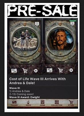 Presale-Cost Of Life-13 Card-Wave 3-Gray Set-Topps Walking Dead Card Trader