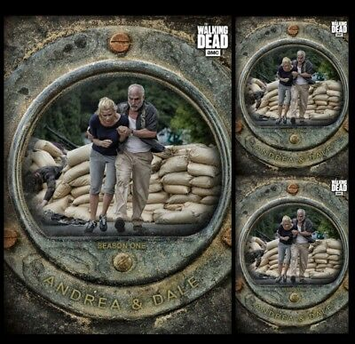 3X Andrea & Dale-Cost Of Life-Gray-Wave 3-Topps Walking Dead Card Trader