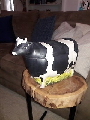 Vintage Warren Kimble Large Cookie Jar Canister by Sakura Animal Collection Cow