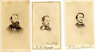 Three (3) Identified Cdv Images Of U.s. Sanitary Commission Officers