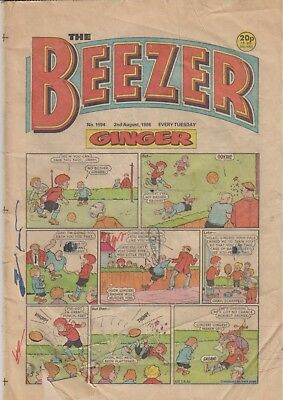The Beezer No. 1594. 2 August, 1986
