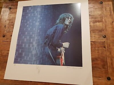 Huge Signed Jimmy Page Lithograph Print Certifiable Authentic #266 Led Zeppelin