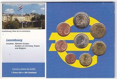 Luxembourg Euro Coin Type Set