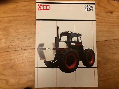 Case 4694 & 4894 TRACTOR SALES BROCHURE International David Brown Ford Barn Find