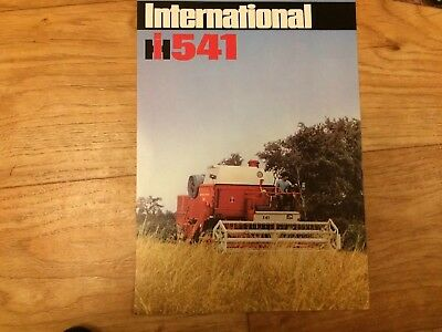 INTERNATIONAL 541 Combine SALES BROCHURE Single Page Case, Ford Barn Find
