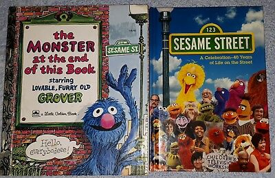 Monster At The End book & Seasame Street 40 Years Of Life On The Street books