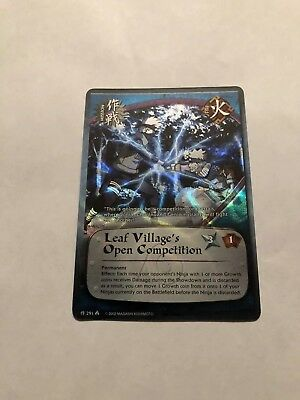 NARUTO CARDS CCG TCG Leaf Villages Open Competition FOIL COMMON COMBINE  SHIPPING