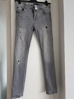 Next Boys Grey Ripped Skinny Jeans  Age 14yrs