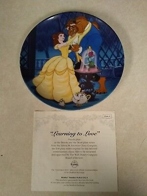 Disney Beauty and the Beast Collecters Plate
