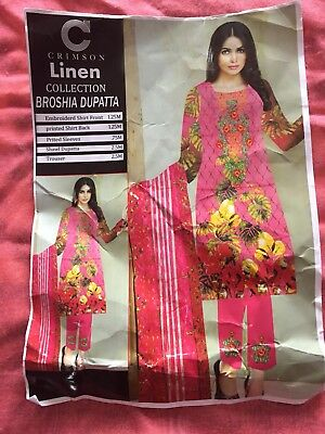 Lovely Lilen Readymade Suit Brand New Packed Size M