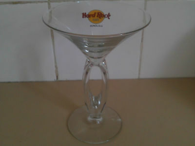Hard Rock Cafe double stemmed Martini Glass - Honolulu