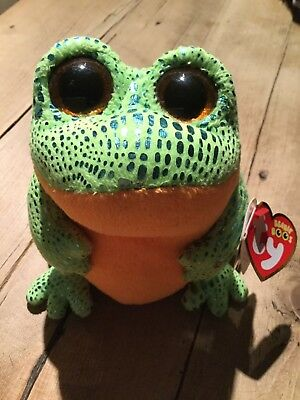 dcff6fe7885 TY BEANIE BOO Speckles the frog with tags - £5.20