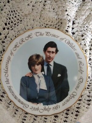 Prince Charles & Lady Diana engagement plate, Royal Grafton China