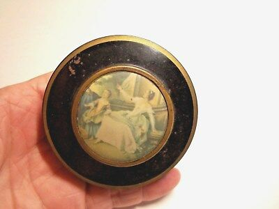 Antique Rare & Collectable 1800's  French Tin Pill Victorian Powder Original