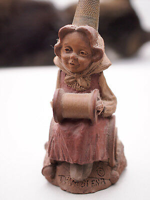 Collectible Vintage THIMBLENA figure by Tom Clark 1988 'a seasoned seamstress'
