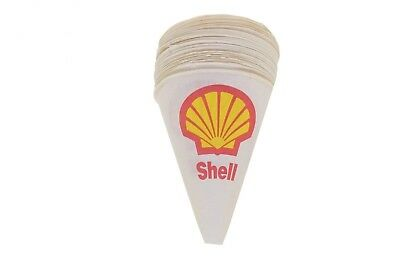Vintage Shell Oil Gas Paper Dispos-a Funnel Oil Funnel NOS - Qty 24