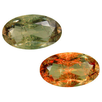 5.48 ct Splendid Oval Shape (15 x 9 mm) Un-Heated Color Change Diaspore Gemstone