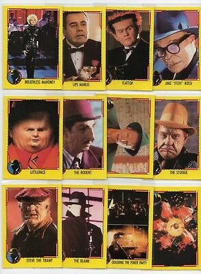 12 1990 Opc Dick Tracy Cards