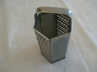 Vintage 6 sided Steel CHEESE GRATER Shredder Made In Sweden Vegetable Slicer