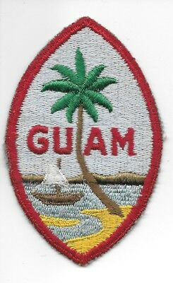Wwii All Cotton Embroidered Guam Command Variation Patch