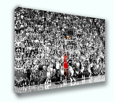 Michael Jordan Last Shot 1998 Ready to Hang Canvas Print Art Home Decor 36x24