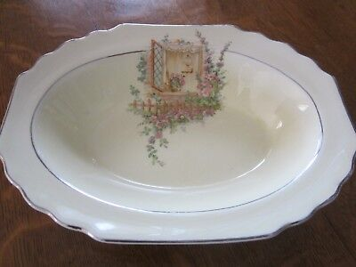 Vintage W.s. George Lido Canarytone Made In Usa 134A, Oval Serving Bowl