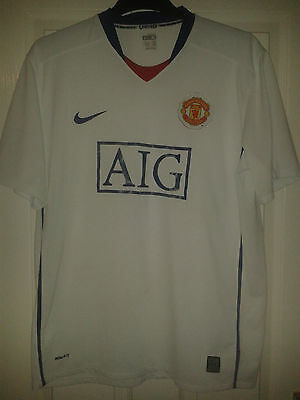 Mens Football Shirt - Manchester United - Away 2008-2009 - Nike - XL - White