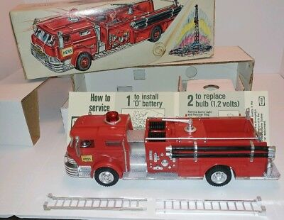 1970 Hess Fire Truck Rare Antique Toy Marx
