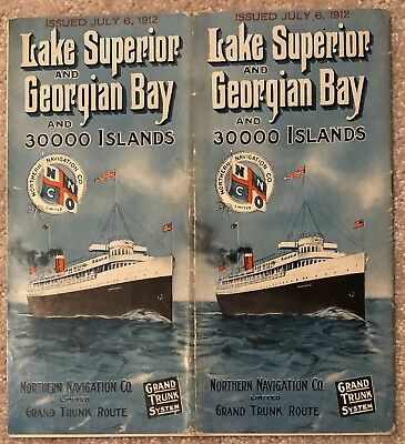 Northern Navigation Co 1929 Time Table Limited Grand Trunk Route Lake Superior