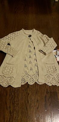 Persnickety Toddler Girl Size 4 Penny Lane Knit Sweater NEW