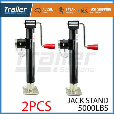 "Heavy Duty Swing up Trailer Caravan Boat Jack Jockey Wheel  6"" Rubber Wheel"