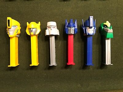 6 different Pez Transformers dispensers perfect condition