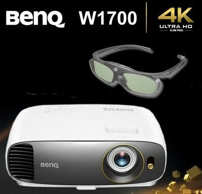 BenQ W1700 True 4K UHD HDR Home Cinema Projector + 1 X BenQ 3D Glasses NEW