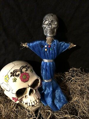 Authentic Voodoo Doll Blue/Grey-With Pins