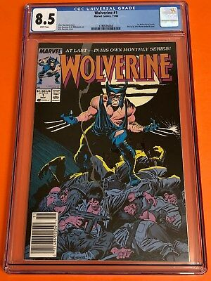 WOLVERINE #1 CGC 8.5 white pages (1988) 1ST PATCH JOHN BYRNE PIN-UP BACK COVER