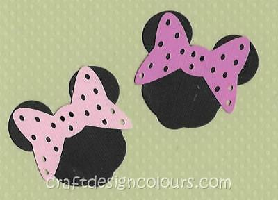 Die Cut - 4 X Minnie Mouse Heads Pink (Kit)