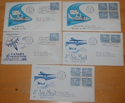 Weeda Canada 436 Cacheted FDCs, lot of First Day Covers