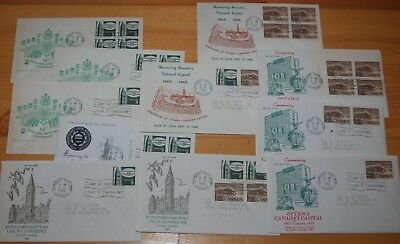 Weeda Canada 441-442 Cacheted FDCs, lot of First Day Covers