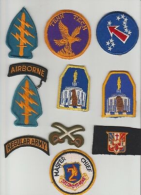 10 WW II & post WW II patches Vietnam Special Forces Oregon State Guard USAF