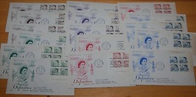 Weeda Canada 454-458 Cacheted FDCs, lot of First Day Covers