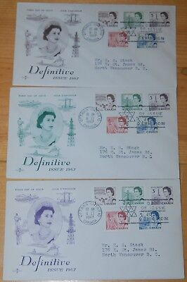 Weeda Canada 454-458 Colour Cacheted FDCs, lot of First Day Covers