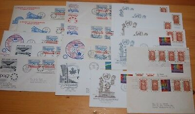 Weeda Canada 469, UN 170-174 Expo 67 Cacheted FDCs, lot of First Day Covers
