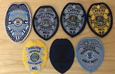 Michigan Police Patch Lot