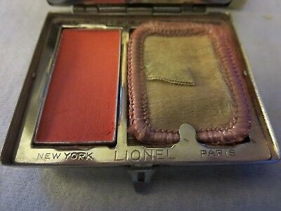 RARE Vintage COMPACT & ROUGE #711 LIONEL Perfumed Blood Orange with Original BOX