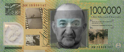 Australian $1,000,000 Dollar Note, Perfect Condition (Paper Note)